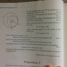Mechanical Art vs. Science: Euclid, Book I, Proposition 2